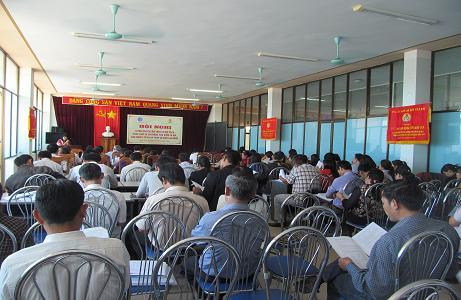 Hội nghị tuyên truyền, đối thoại về chính sách pháp luật, BHXH, BHYT và tập huấn nghiệp vụ công đoàn năm 2016